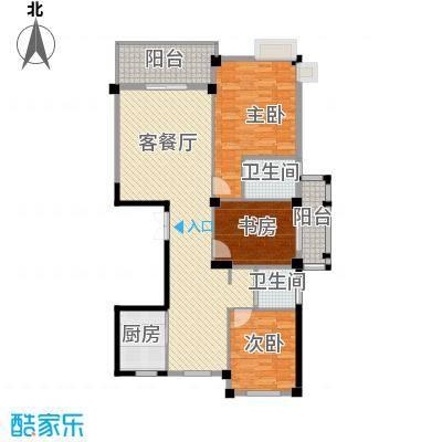 世纪花园108.10㎡户型3室1厅2卫1厨