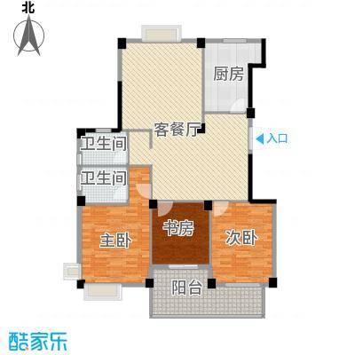世纪花园134.00㎡户型3室1厅2卫1厨