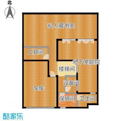 钱湖沐桥7.00㎡联排7号楼A1地下层平面总户型4室3厅5卫