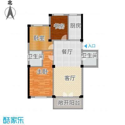 和润公寓104.45㎡12826m2-12882m248套户型2室1厅2卫1厨