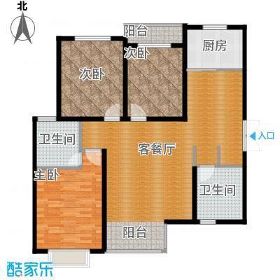 君廷上院124.94㎡一户型3室1厅2卫1厨