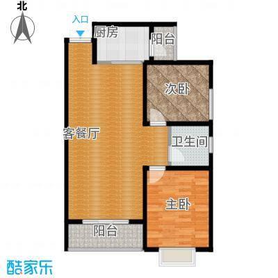 君廷上院89.58㎡二户型2室2厅1卫