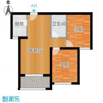 西溪诚园85.00㎡B1户型2室1厅1卫