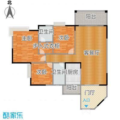 海悦新城108.34㎡户型3室1厅2卫1厨