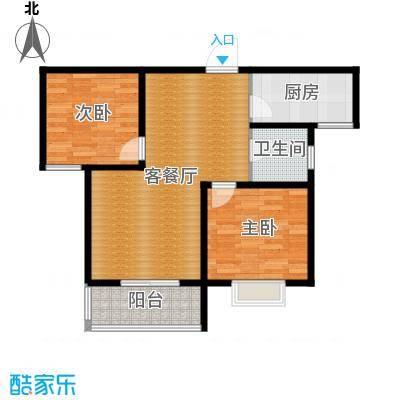 京海铭筑84.36㎡2号楼b2户型10室