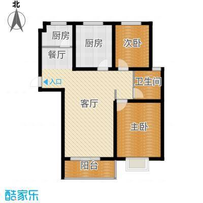 京海铭筑111.07㎡2号楼a3户型10室