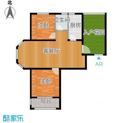 国仕山115.75㎡m1户型2室2厅1卫