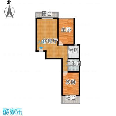裕馨城二期98.83㎡户型2室2厅1卫