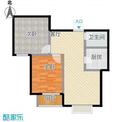 裕馨城二期88.12㎡d户型2室2厅1卫