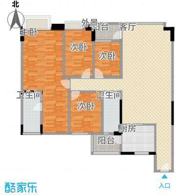 蓝色海岸135.20㎡户型4室1厅2卫1厨
