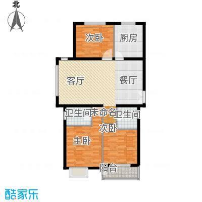 建投十号院135.00㎡H3-c户型3室2厅2卫