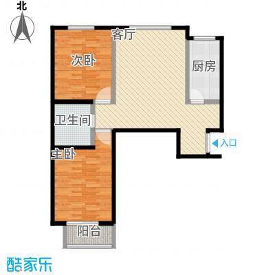 裕馨城二期98.82㎡c户型2室2厅1卫