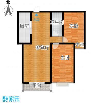裕馨城二期97.53㎡户型2室2厅1卫