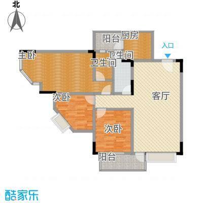 蓝色海岸102.50㎡户型3室1厅2卫1厨