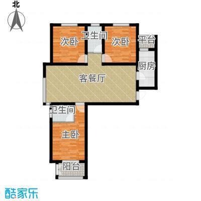 学府名城121.80㎡2号楼a户型3室2厅2卫
