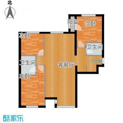 西美五洲天地122.00㎡4号楼4户型10室