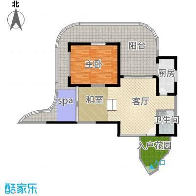 龙栖湾・波波利海岸84.00㎡A1公寓户型1室2厅2卫
