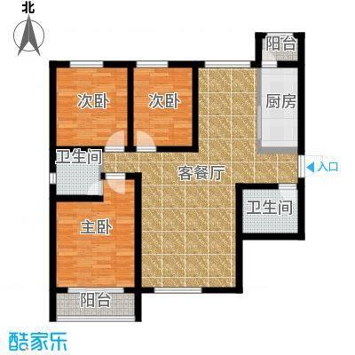 星湖国际花园121.56㎡A户型3室1厅2卫1厨