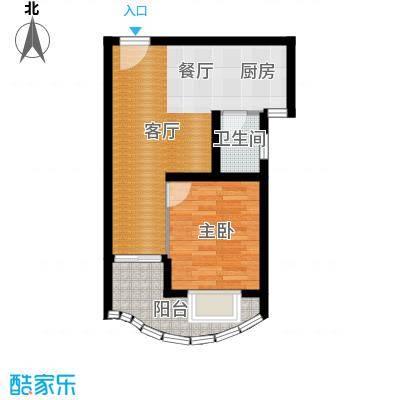 九龙湾49.72㎡一号楼B户型10室