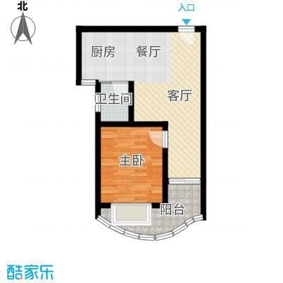 九龙湾50.57㎡一号楼B1户型10室