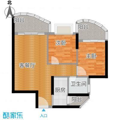 九龙湾69.50㎡二号楼E户型10室
