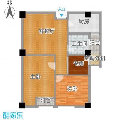 上城风景98.00㎡户型3室1厅1卫1厨