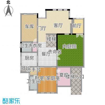 山水华门199.93㎡2326号楼独栋别墅一层户型2卫1厨