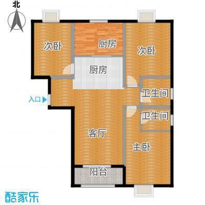 百岛绿城135.37㎡10号12号15号楼A1户型3室2厅2卫