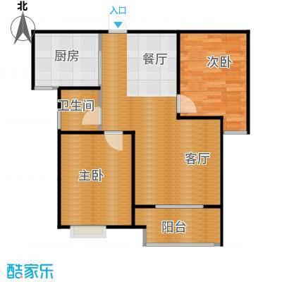 百岛绿城88.89㎡8号10号12号15号楼A2户型2室2厅1卫