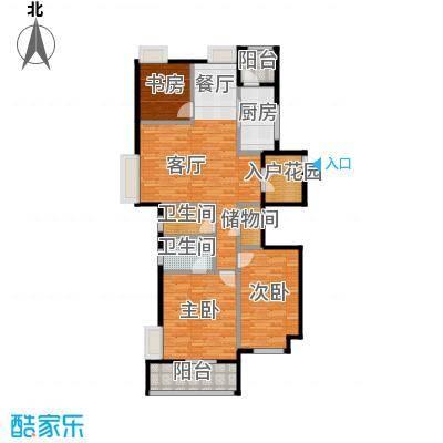 润开华府115.72㎡一期4号楼标准层A户型10室