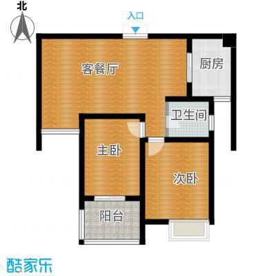 江雁mini格调77.54㎡二期14号楼标准层E3户型10室
