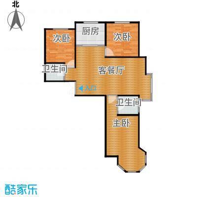 天河悦城118.54㎡A1户型3室2厅2卫
