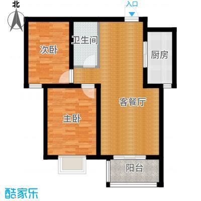 天河悦城89.75㎡B1户型2室2厅1卫