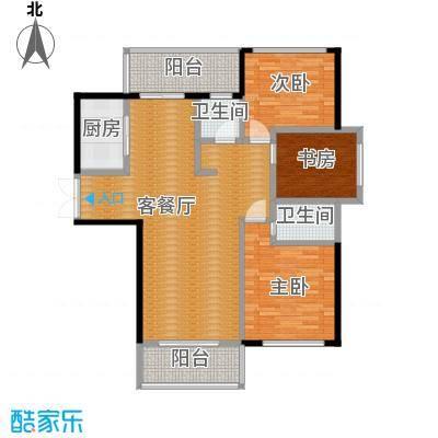 长江峰景136.00㎡03栋C型户型10室
