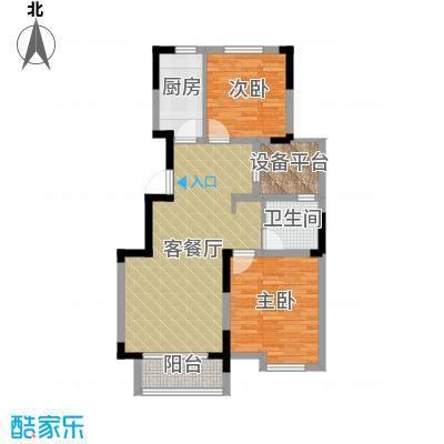 华菁水苑86.52㎡标准层A户型10室