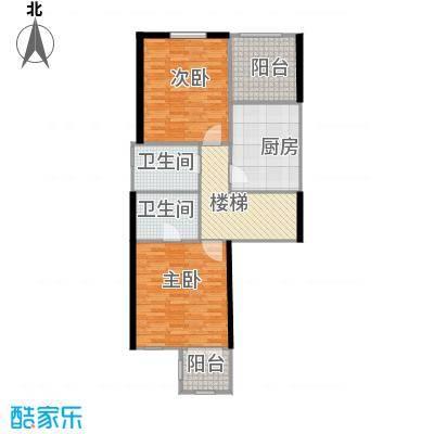 龙湖香醍国际社区81.38㎡A1二层平面户型10室