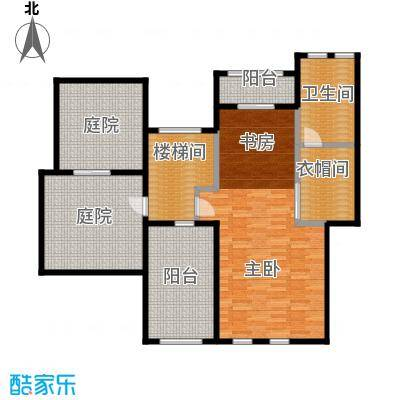 龙湖香醍国际社区120.10㎡A5跃上层平面户型10室