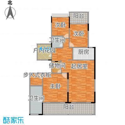 海棠福湾一号160.00㎡公寓D2户型3室2厅2卫