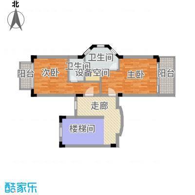 珊瑚宫殿80.59㎡D型别墅二层户型2室2卫
