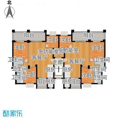 海棠湾六和悦城86.00㎡户型2室2厅1卫
