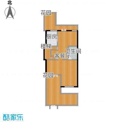 凤凰山庄176.00㎡一期联排别墅C1一楼户型2厅1卫