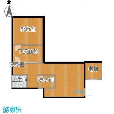 凤凰山庄270.00㎡B叠加别墅地下一层平面户型6室2厅3卫