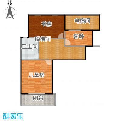 凤凰山庄115.00㎡一期叠加别墅B二楼户型3室1卫