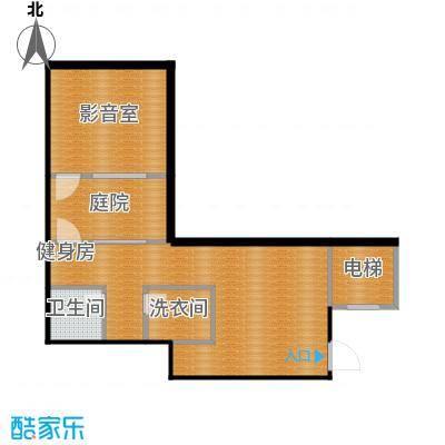 凤凰山庄62.10㎡一起叠加别墅B地下室户型2厅1卫