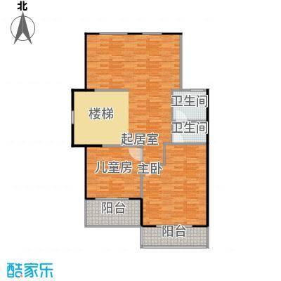 凤凰山庄98.00㎡一期联排别墅C1二楼户型2室1厅1卫
