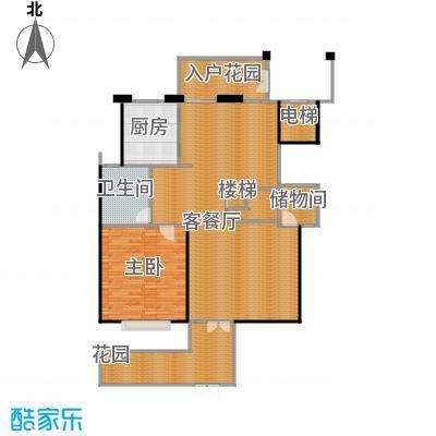 凤凰山庄210.00㎡A叠加别墅一层平面户型4室2厅3卫