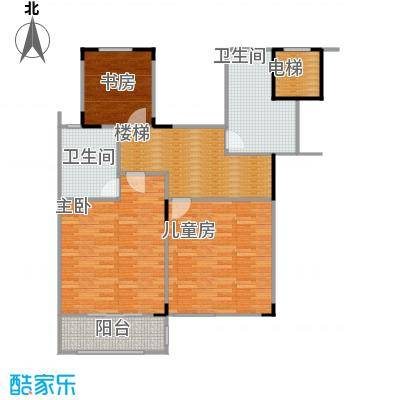 凤凰山庄210.00㎡A叠加二层平面户型4室2厅3卫