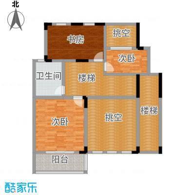 凤凰山庄270.00㎡B叠加别墅四层平面图户型6室2厅3卫