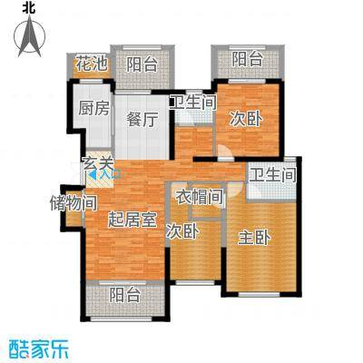 香江湾160.25㎡C2-2户型3室2厅2卫