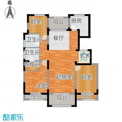香江湾156.77㎡D1-2户型3室2厅2卫